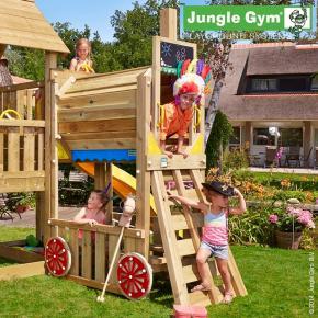 Stylová dětská hřiště na zahradu ve tvaru lodi nebo vláčku