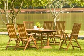 Zahradní nábytek z exotické dřeviny meranti